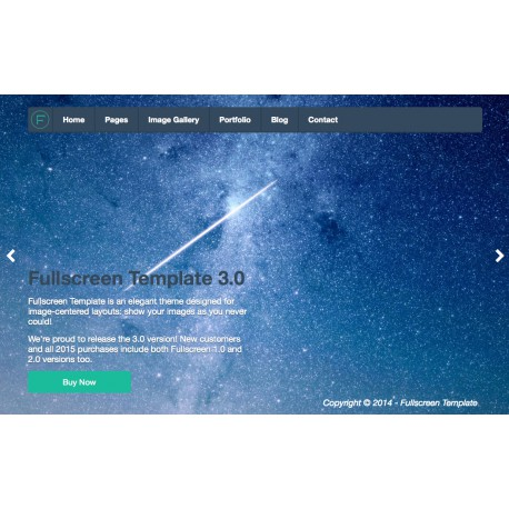 HTML Fullscreen Template - Single domain license