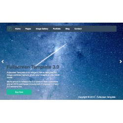 HTML Fullscreen Template - Unlimited domains license