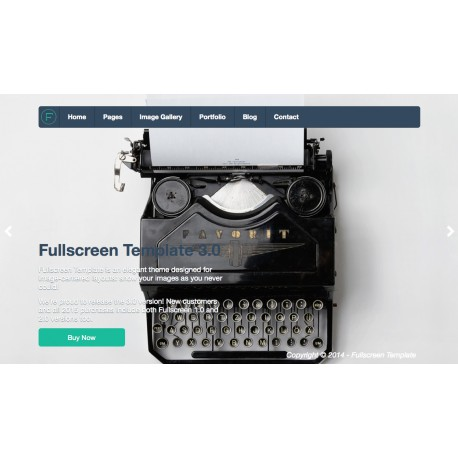 PHP Fullscreen Template