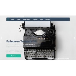 PHP Fullscreen Template - Unlimited domains license